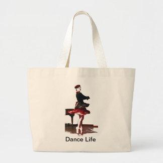 Dançarino francês bolsas de lona