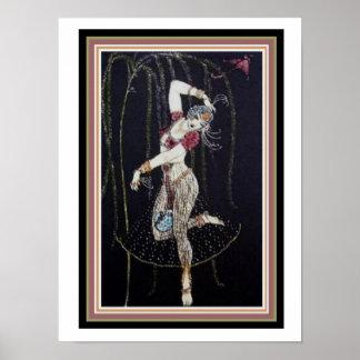 Dançarino indiano por George Barbier poster 12 x