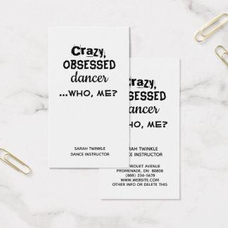 Dançarino louco dos cartões de visitas engraçados