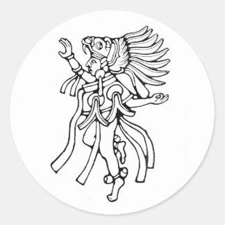 Dançarino maia do jaguar - etiqueta de surpresa de