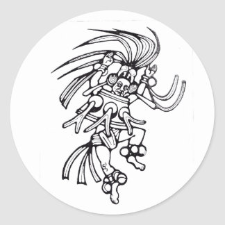 Dançarino maia do polvo - etiqueta de surpresa de
