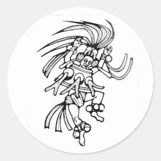 Dançarino maia do polvo - etiqueta do dançarino