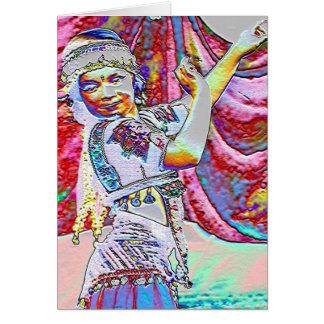 Dançarino pequeno cartão comemorativo