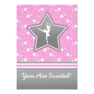 Dançarino personalizado entre as estrelas convite 12.7 x 17.78cm