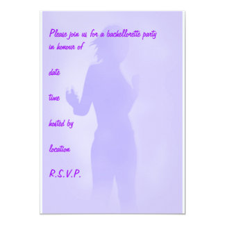 dançarino roxo convite 12.7 x 17.78cm