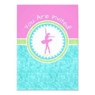 Dançarino Tri Pastel da cor com azulejo do Aqua Convite 12.7 X 17.78cm