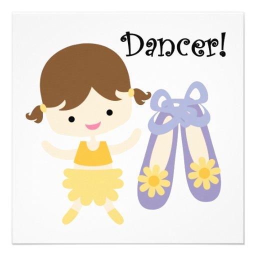 Dançarino triguenho convites personalizado