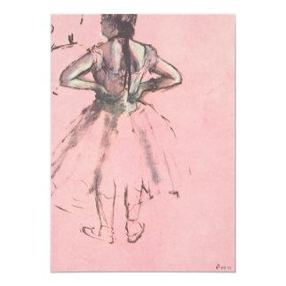 Dançarino visto da parte traseira por Edgar Degas Convite Personalizado