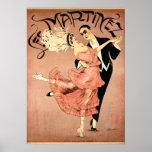 Dançarinos 1920 do tango do ~ do art deco poster