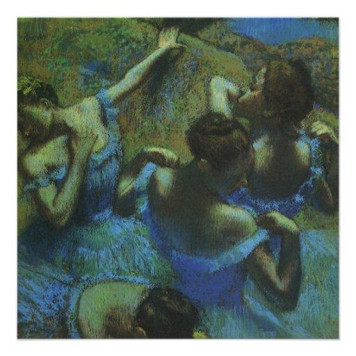 Dançarinos azuis por Edgar Degas, impressionismo Convite Personalizados