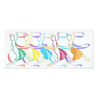 Dançarinos Convite 10.16 X 23.49cm