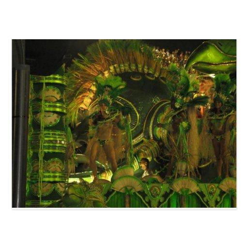 Dançarinos da samba em Carnaval em Rio Cartao Postal