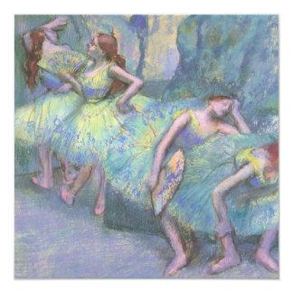 Dançarinos de balé nas asas por Edgar Degas Convite Personalizado