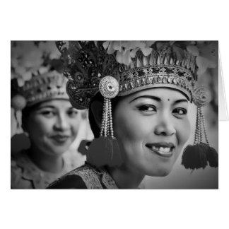 Dançarinos de Barong, Bali Cartão Comemorativo
