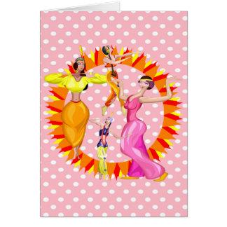Dançarinos de barriga cartão de nota