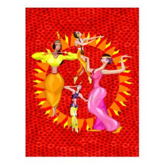 Dançarinos de barriga cartão postal
