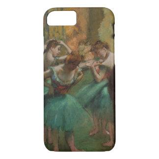Dançarinos de Edgar Degas cor-de-rosa e capas de