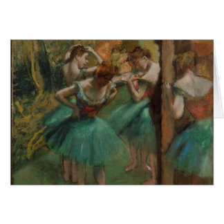 Dançarinos de Edgar Degas cor-de-rosa e cartão