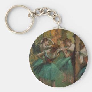 Dançarinos de Edgar Degas cor-de-rosa e chaveiro