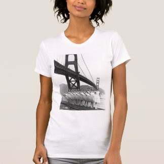 Dançarinos de golden gate bridge camisetas