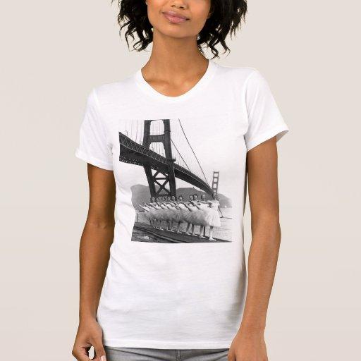 Dançarinos de golden gate bridge camisetas