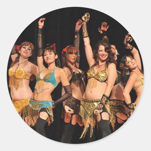 Dançarinos de Joweh Adesivo Em Formato Redondo
