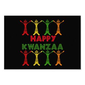 Dançarinos de Kwanzaa Convite 8.89 X 12.7cm