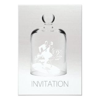 Dançarinos de prata cinzentos brancos mínimos do convite 8.89 x 12.7cm