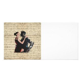 Dançarinos do tango cartão com foto