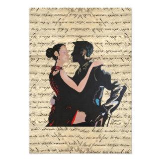 Dançarinos do tango convites personalizado