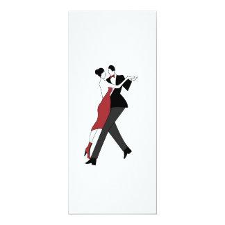 dançarinos do tango convite 10.16 x 23.49cm