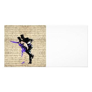 Dançarinos do vintage do estilo do art deco cartão com foto