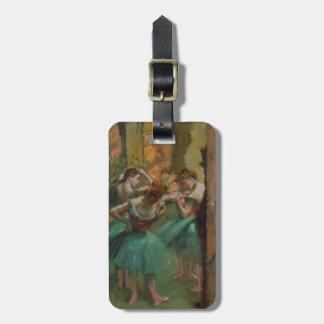 Dançarinos dos trabalhos de arte do balé etiqueta de bagagem