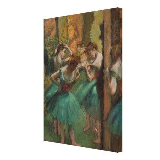 Dançarinos dos trabalhos de arte do balé impressão em canvas