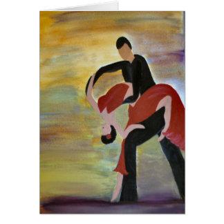 Dançarinos Latin do salão de baile Cartão