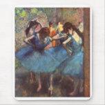 Dançarinos no azul mousepad