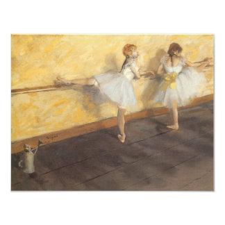 Dançarinos no bar por Edgar Degas, balé do vintage Convite 10.79 X 13.97cm