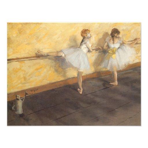Dançarinos que praticam na barra por Edgar Degas Convites