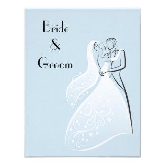 Dançarinos retros azuis do casamento