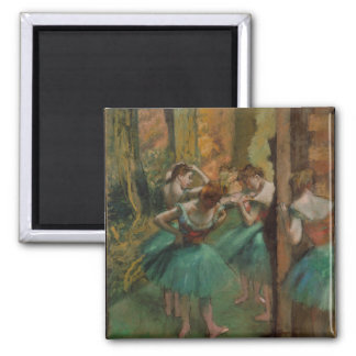 Dançarinos rosa e verde de Edgar Degas Imã