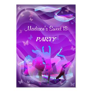 Dance party do aniversário convite 12.7 x 17.78cm