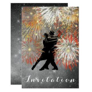 Dance party do carnaval da bola do tango convite 8.89 x 12.7cm