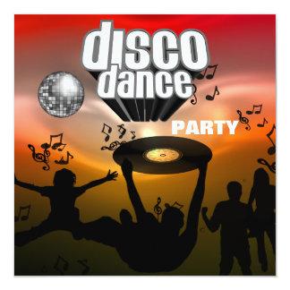Dance party do disco do convite retro