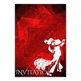 Dance party vermelho Charleston da paixão Convite 8.89 X 12.7cm
