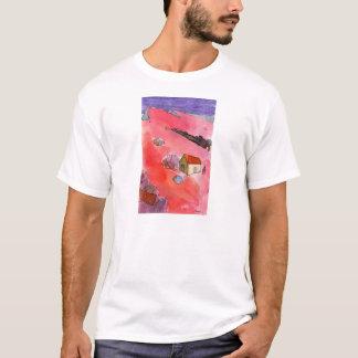 Dançou o t-shirt toda a noite branco camiseta