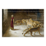 Daniel no impressão da arte da bíblia do antro do