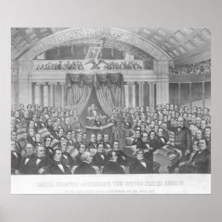 Daniel Webster que endereça os Estados Unidos Poster
