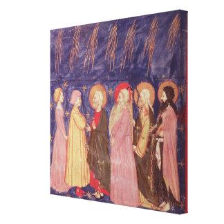 Dante e Beatrice com os santos do paraíso Impressão Em Tela