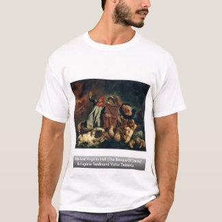 Dante e Virgil no inferno (o Barque de Dante) Camiseta