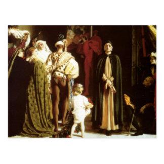 Dante no exilado cartão postal